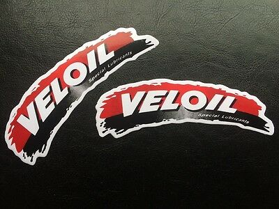 VELOIL Special Lubricants Stickers / Decals x 2