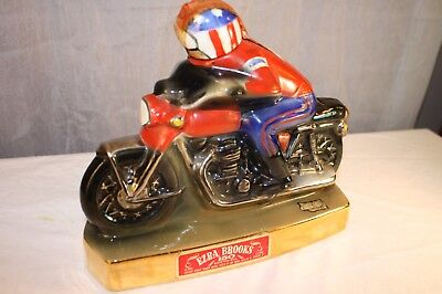 Motorcycle racer collectable decanter ezra brooks 1971 RH22