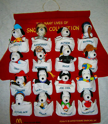 McDonald's Happy Meal 2001 The Many Lives Of Snoopy Soft Plush Toy Complete Set