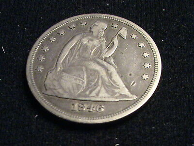 1846 Seated Liberty Silver Dollar, full date, full liberty  * No Reserve *  S682