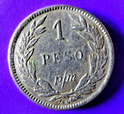 COIN -  REPUBLIC OF COLUMBIA 1912  1 Peso p/m SCARCE!
