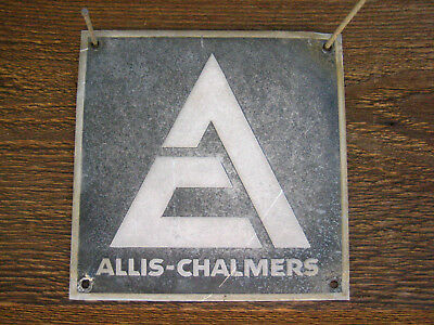 Vintage 5'' by 5''  Allis-Chalmers Aluminum Sign Metal AC Tractor?