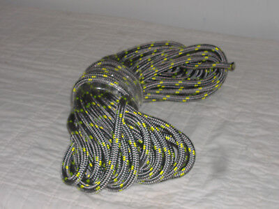 """Double Braid Polyester 1/2""""x 70 feet arborist tree rope roofer safety Platinum"""