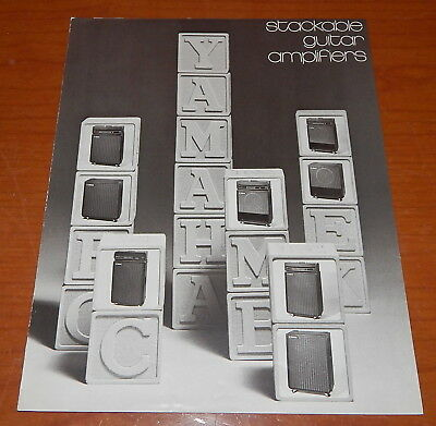 Vintage 1970's Yamaha Stackable Guitar Amplifier Brochure Amp Catalog G100 B100