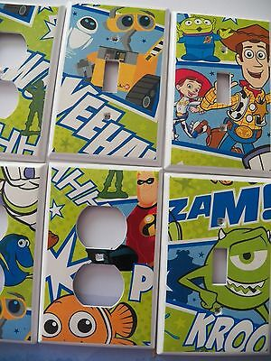Switchplate Covers - DISNEY / PIXAR - Toy Story, Monsters Inc, Wall-E, Nemo Dory