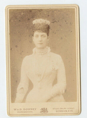 Vintage Cabinet Card Queen Alexandra of Great Britain W & D Downey Photo