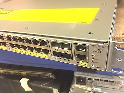 Cisco WS-C4948E-F w/ Dual AC's Back-to-Front Cooling 10Gig SFP+