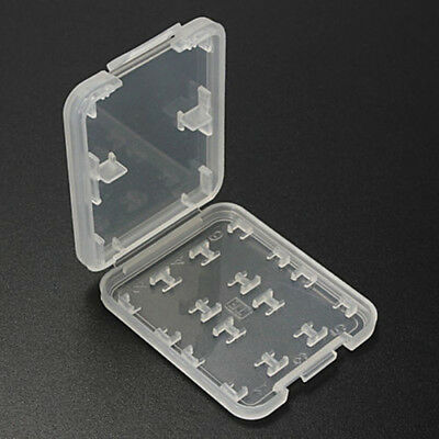8 Slots Transparent Micro Storage Box Card Protecter Box Storage Case Holder