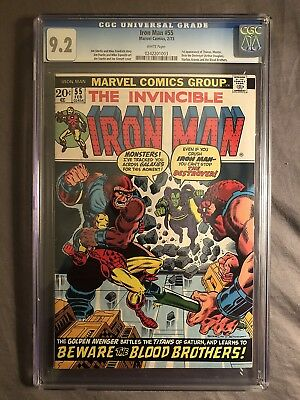 Iron Man #55 (Marvel, 2/73) CGC 9.2 1st app of Thanos & Drax the Destroyer (NM-)