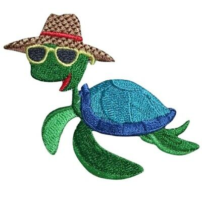 Turtle on a Vacation Applique Patch (Iron on)
