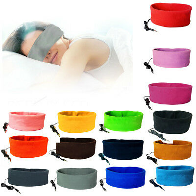 Sleep Mask Earphone Sleeping Headband Wearable Over Ear Headphones Headset