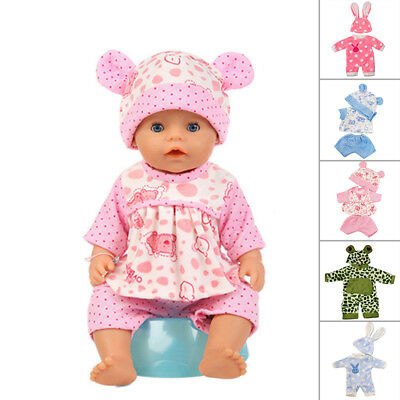 "Cute jumpsuit Doll Clothes Wear Suit Set for 43cm 17"" Baby Born (only clothes)"