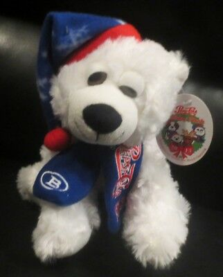 """Pepsi Cola White Polar Bear With Christmas Hat and Scarf by Boyd Gaming 7"""" Tall"""