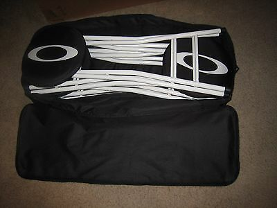 Rare Custom Oakley Bar Stools W/ Carrying Case - Used At Oakley Sponsored Event