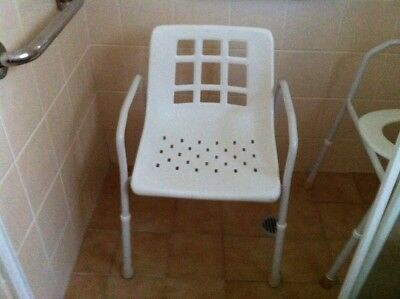 Shower Chair Mobility Medical Aid Adjustable Height Disability elderly Bath Aid