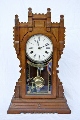 New Haven 8 day striking Victorian parlor clock @ 1890 Fancy Project