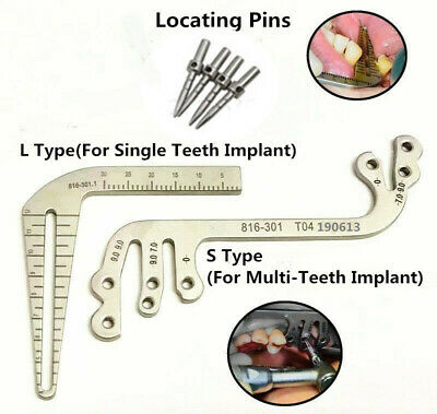 Set of 6 Dental Gauge Implant Surgical Drilling Guide Locator Parallel Depth Pin
