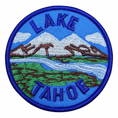 Lake Tahoe Patch - Mountain, Valley, and River (Iron on)