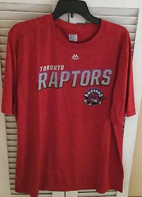 NWT NBA Toronto Raptors Men's XL Big Timer T-Shirt Majestic Hardwood Classic