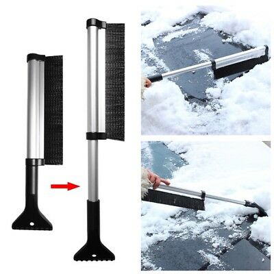 2 in 1 Car Ice Scraper Snow Brush Retractable Window Shovel Removal Brush Tools