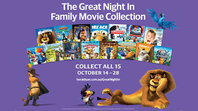 The Great Night In Family Movie Collection 15 DVD's Set Case Herald Sun