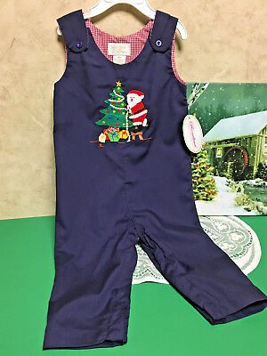 Sir John By Rosalina Smocked Infant Boys Christmas Outfit Size 12 Months~New