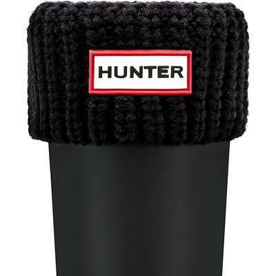Hunter Kids Half Cardigan Boot Sock Black Textile Infant Socks