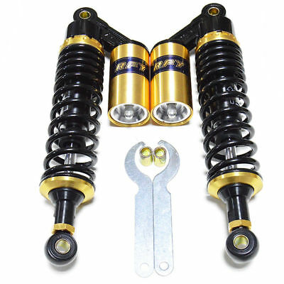 1 Pair 360mm14'' Motorcycle Rear Air Shocks Absorbers Suspension Quad ATV Gold