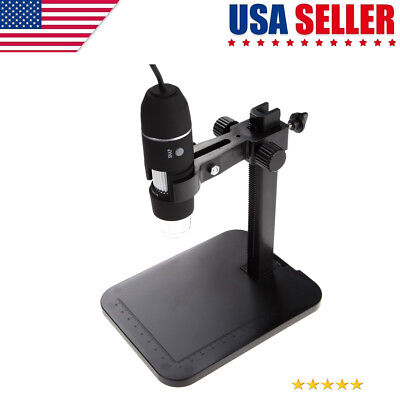 2MP USB 1000X 8 LED Digital Microscope Endoscope Magnifier Camera+Lift Stand US