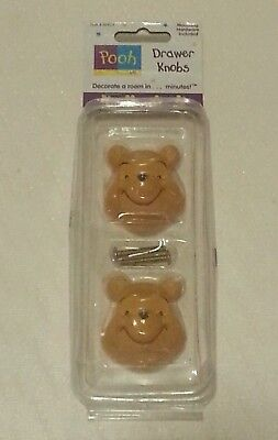 Winnie The Pooh Draw Knobs New 2 Pack Bear Head Handle Decor