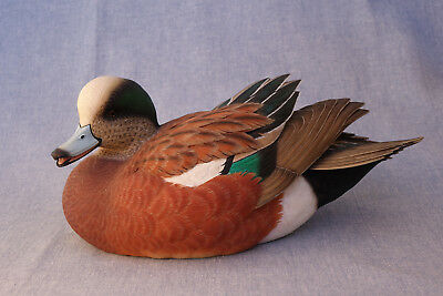 Jett Brunet 2008 Ducks Unlimited Wigeon Drake, Full Decorative Decoy, NIB
