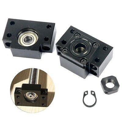 1 SET BK12+ BF12 Ball Screw End Support Bearing Block Mount For Ball Screw 1605