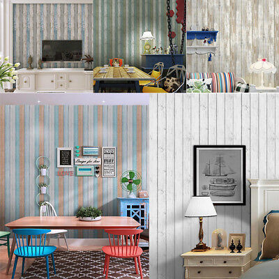 3D Nordic Style Wood Stripe Wall paper Murals Rolls Feature TV Background Decor
