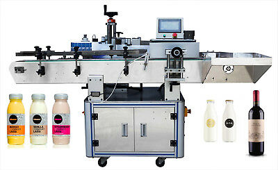 Automatic adhesive sticker round wine and can bottle labeling machine Oval label