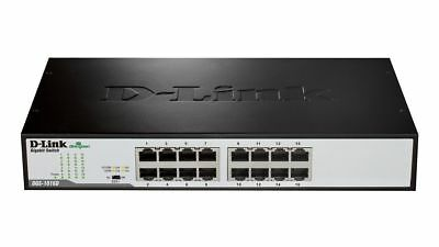 D-Link DGS-1016A 16 Port Gigabit Unmanaged Ethernet Network Standalone Switch