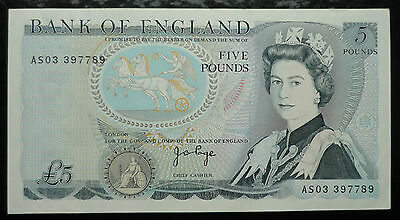 Five Pounds Banknote Bank of England 1971-1972 J.B.Page Pick 378b ►UNC◄