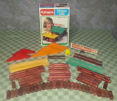 1979 Playskool Original Lincoln Logs #885 General Store & Home by MB