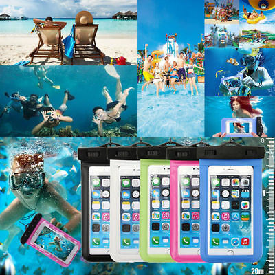 2PCS Waterproof Underwater Phone Case Dry Bag Pouch For All Smartphones 6.5''