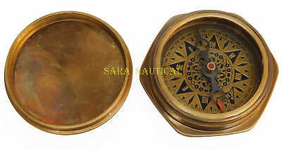 Vintage Maritime Dollond London 1917 Antique Brass-Compass Nautical For Gifted