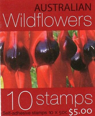 2005 AUSTRALIAN WILDFLOWERS STAMP BOOKLET 10 x 50c STAMPS MUH