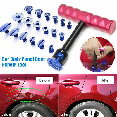 1Set 18pcs Tabs + T-Bar Car Hammer Puller Lifter Paintless Dent Pit Repair Tools