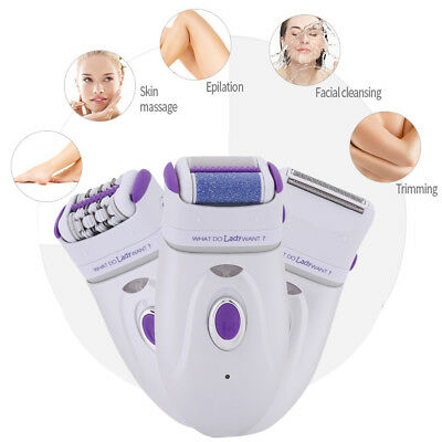3 in 1 Rechargeable Electric Epilator Shaver Callus Remover Hair Removal Machine