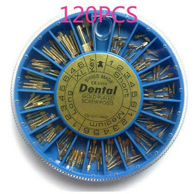 10 Boxes Dental Endodontic Conical Screw Post Kit 24K Gold Plated Tapered VIP