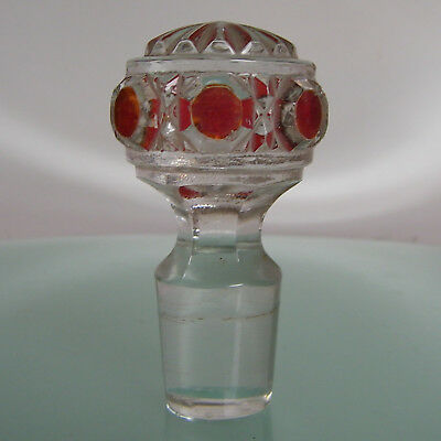 BACCARAT DIAMANTS PIERRERIES bouchon de flacon ANTIQUE FRENCH CRYSTAL