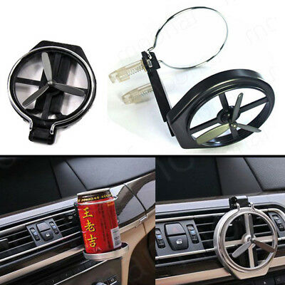 Auto Car Air Vent Stand Mount Foldable Water Drink Bottle Cup Holder With Fan