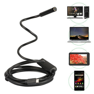 5M Waterproof Endoscope 6LED Borescope Inspection Video Camera for Android BI746