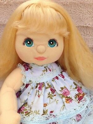 My Child Doll ~ Aussie '88 Blonde Crimp Aqua Eyes/Charcoal?/Pink ~ Dressed!