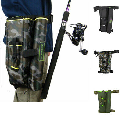 Outdoor Fishing Waist Carry Bag Shoulder Leg Lure Rod Tackle Pouch with Case