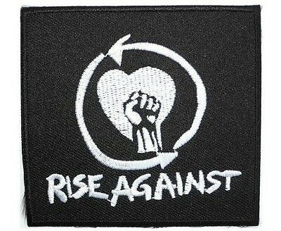 RISE AGAINST Embroidered Punk Rock Fist Iron On Jacket Badge Patch 3""