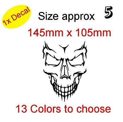 SKULL Graphic Vinyl Decal Sticker Car, Laptop Bike etc (REF 5)